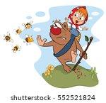 vector illustration of a bear... | Shutterstock .eps vector #552521824