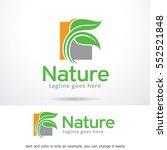 nature logo template design... | Shutterstock .eps vector #552521848