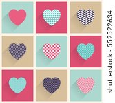 valentines day card  set flat... | Shutterstock .eps vector #552522634