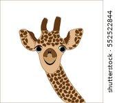 giraffe muzzle | Shutterstock .eps vector #552522844