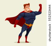 superhero concept  father   for ... | Shutterstock .eps vector #552523444