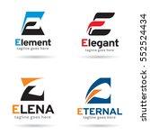 letter e logo template design... | Shutterstock .eps vector #552524434