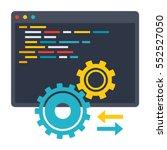 computer programming ... | Shutterstock .eps vector #552527050