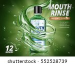 mouth rinse ads  refreshing... | Shutterstock .eps vector #552528739