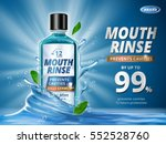 mouth rinse ads  refreshing... | Shutterstock .eps vector #552528760