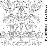 fantastic tea  symmetrical... | Shutterstock . vector #552530128