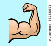 muscle arms  strong bicep... | Shutterstock .eps vector #552530536