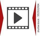 video icon vector flat design... | Shutterstock .eps vector #552531904