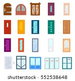 entrance door icon isolated on... | Shutterstock .eps vector #552538648