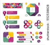 abstract infographics set with... | Shutterstock .eps vector #552538828