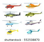 helicopter set isolated on... | Shutterstock .eps vector #552538870