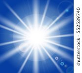 sun rays and light effects on... | Shutterstock .eps vector #552539740
