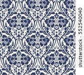 vector seamless floral pattern... | Shutterstock .eps vector #552540040