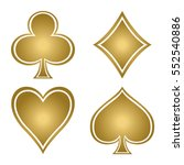 set with gold suits of playing... | Shutterstock .eps vector #552540886