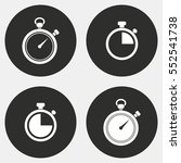 stopwatch vector icon. white... | Shutterstock .eps vector #552541738