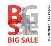 vector big sale. broken text | Shutterstock .eps vector #552543010