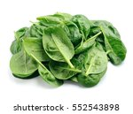 spinach leaves with water drops ... | Shutterstock . vector #552543898