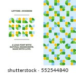 agronomy logo font contains... | Shutterstock .eps vector #552544840