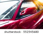 detail shot of old fancy car. - stock photo