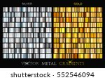 vector set of gold and silver... | Shutterstock .eps vector #552546094