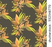 floral seamless pattern. hand...   Shutterstock .eps vector #552548770