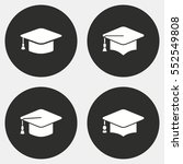 graduation cap vector icon.... | Shutterstock .eps vector #552549808
