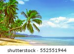 beautiful sunny beach. view of... | Shutterstock . vector #552551944