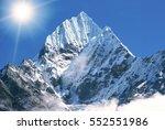 mountain peak everest. highest... | Shutterstock . vector #552551986