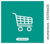 shopping cart vector icon | Shutterstock .eps vector #552556633