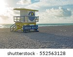 miami beach blue yellow famous... | Shutterstock . vector #552563128