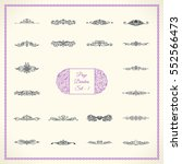 new calligraphic page divider... | Shutterstock .eps vector #552566473