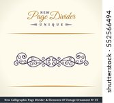 new calligraphic page divider... | Shutterstock .eps vector #552566494