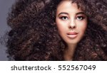 beauty portrait of attractive... | Shutterstock . vector #552567049