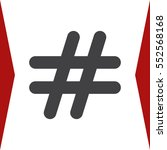 hashtags icon vector flat... | Shutterstock .eps vector #552568168
