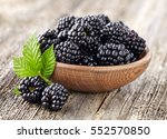 Blackberry On A Wooden...
