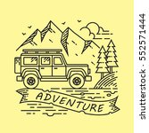adventure outdoor line... | Shutterstock .eps vector #552571444