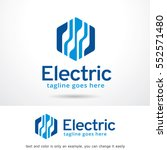 abstract electric logo template ... | Shutterstock .eps vector #552571480