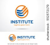 abstract institute logo... | Shutterstock .eps vector #552572170
