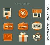 vector icon shopping   Shutterstock .eps vector #552572548