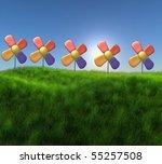 some flowers | Shutterstock . vector #55257508