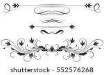 set vintage ornament and... | Shutterstock .eps vector #552576268