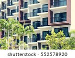 condominium and swiming pool... | Shutterstock . vector #552578920