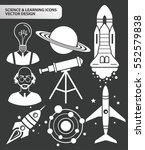 science and leaning icon set... | Shutterstock .eps vector #552579838