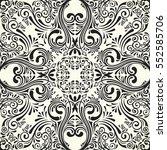 vector seamless black pattern...   Shutterstock .eps vector #552585706