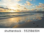 morning sunny scene miami beach ... | Shutterstock . vector #552586504