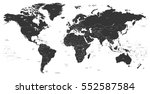 vector black political world map | Shutterstock .eps vector #552587584