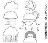 vector set of weather | Shutterstock .eps vector #552590764