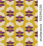 seamless retro pattern with... | Shutterstock .eps vector #552591250