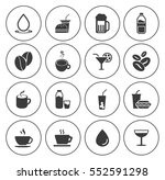 drink icons  | Shutterstock .eps vector #552591298