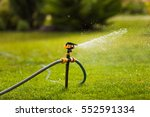 sprinkle on a green lawn | Shutterstock . vector #552591334